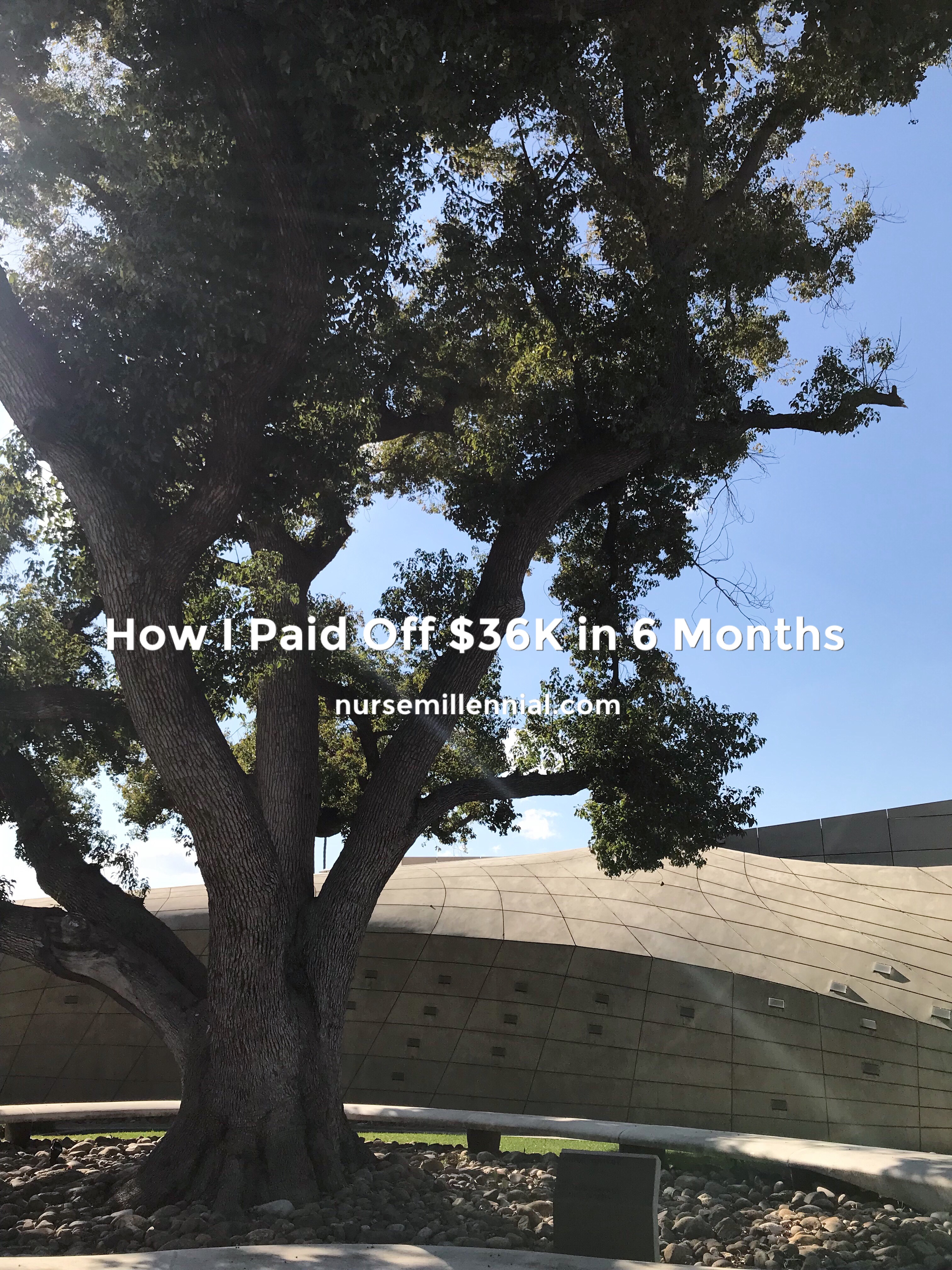 I paid off $35,610.37 in 6 months. When I got to the point of being sick  and tired of having a massive amount of debt ($180,000 in student loans  when I ...